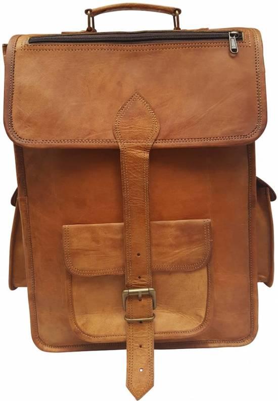 JOOF Leren (geitenleren) rugzak vintage look bruin 3