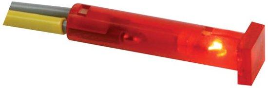 VIERKANTE SIGNAALLAMP 7 x 7mm 24V ROOD (CCAF024R)