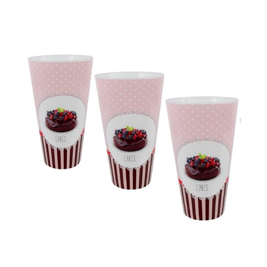 3 Smoothie shake drinkbeker candy cupcakes