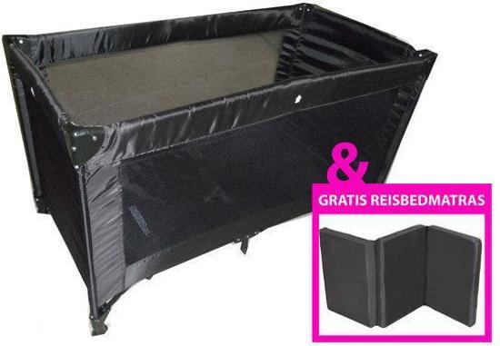 Campingbedje Met Matras : Bol cabino campingbedje met matras en hoeslaken zwart