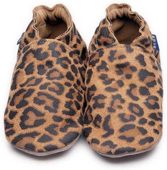 Inch Blue babyslofjes plain leopard maat L (13,5 cm)