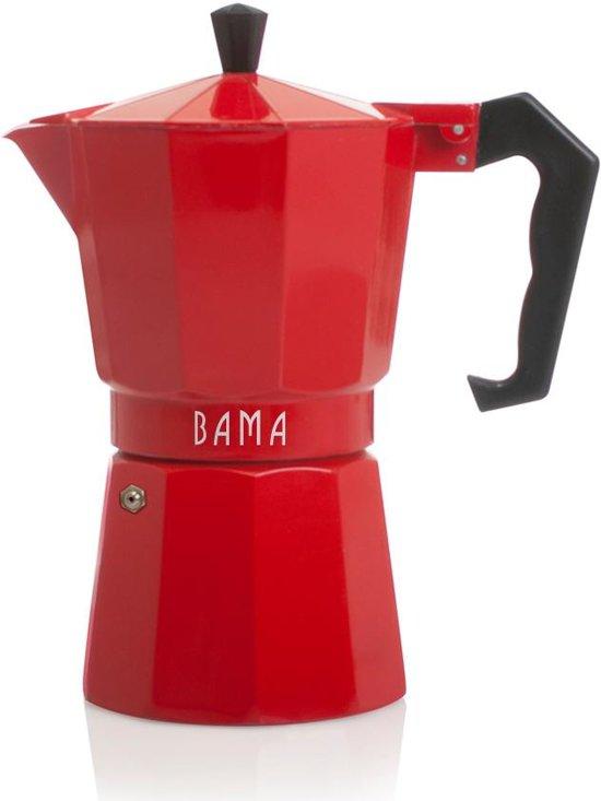 Bama Espresso Maker Doppio 6 Kops - Rood