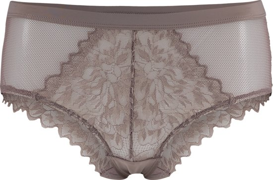 Sapph Lizz High Brief Dames Onderbroek - Taupe - Maat S