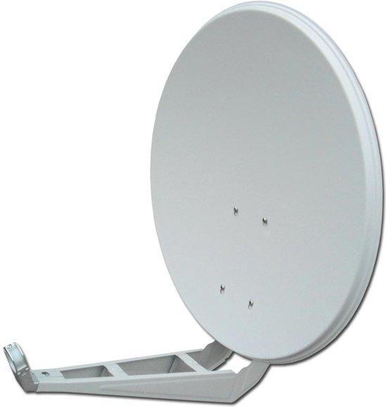 Wavefield WV80SHDW 80cm Aluminium Schotel antenne, HD & 4K READY, Licht Grijs