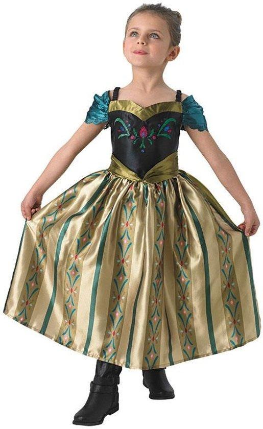 f6960df62e75b5 Disney Frozen Prinses Anna Jurk Kroning - Kostuum Kind - Maat 98 104