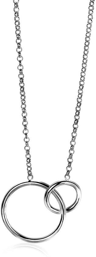 Zinzi zilveren collier ronde vormen 42-45cm ZIC1278