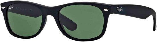Ray-Ban RB2132 622 - zonnebril - New Wayfarer (Matte) - Zwart / Groen Klassiek G-15 - 55mm