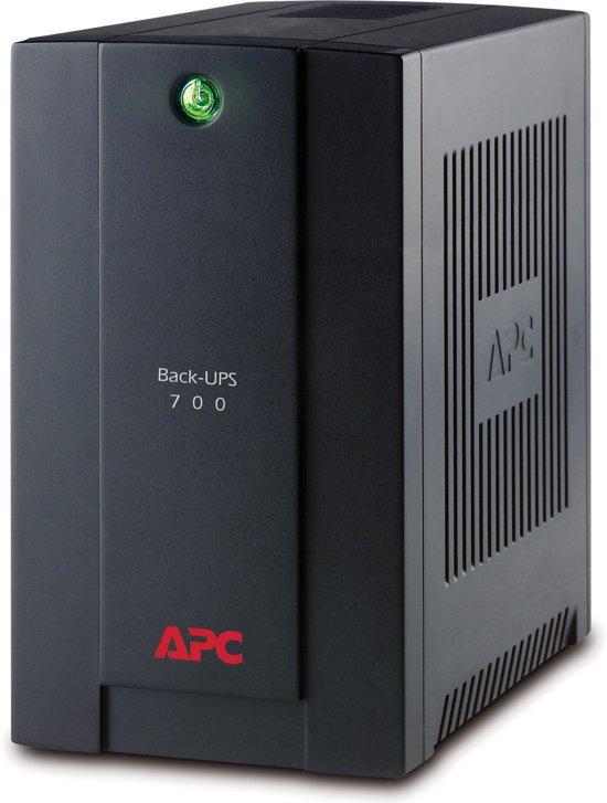 APC Back-UPS BX700UI - Noodstroomvoeding / 4x C13 aansluiting / USB / 700VA