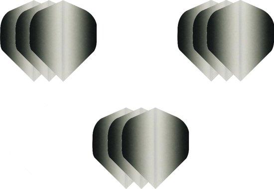 3 sets (9 stuks) Super Sterke dart flights- Dragon darts  - Fade Side Zwart - darts flights