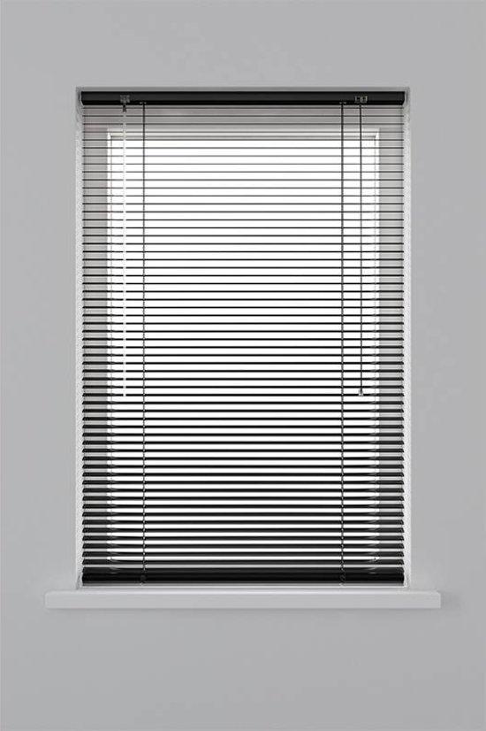 Decosol Horizontale Jaloezie Aluminium - 25 mm - Zwart - Maat: 160 x 180 cm