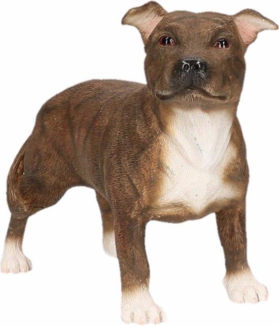 Beeldje Staff Bull Terrier bruin 15 cm