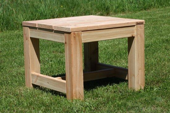 bol | hocker landelijk 60x60cm - douglas/lariks houten