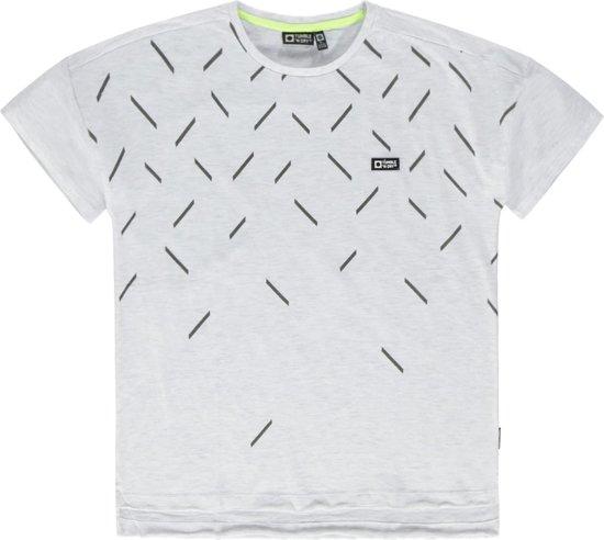 Tumble 'n dry Jongens Tshirt Lemuel -  white melange  -  maat 146/152