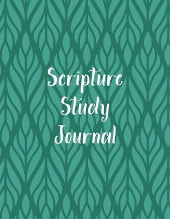 Scripture Study Journal: Christian Bible Notebook with Guided Prompts