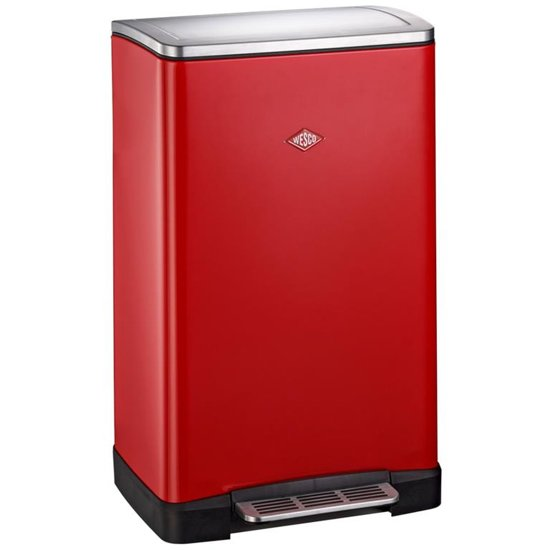Wesco Big Double Boy Prullenbak - 2x18 l - Rood