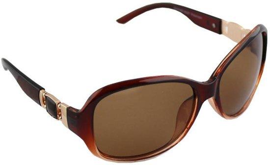 1b335c0272625d Zonnebril Ovaal Polariserend Glas Bruin GRATIS Brillenkoker