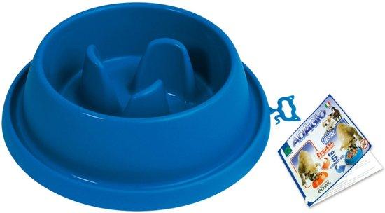 Adagio blauwe corrigerende honden voerbak groot