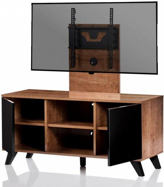 bol tv meubel tv kast inclusief tv houder milano hout