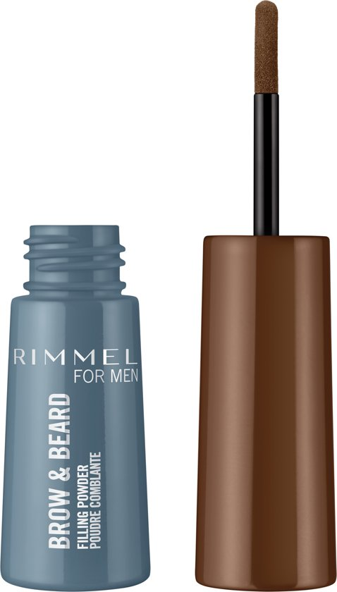 Rimmel for Men Brow & Beard Filling Powder - Bruin - Wenkbrauwpoeder - Baardvulling