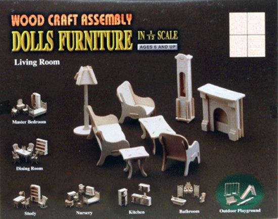 Poppenhuis meubels huiskamer merkloos speelgoed for Meubels poppenhuis