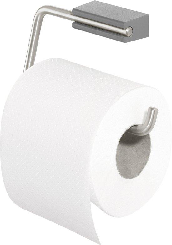 Tiger Cliqit Toiletrolhouder - RVS Geborsteld / Donkergrijs