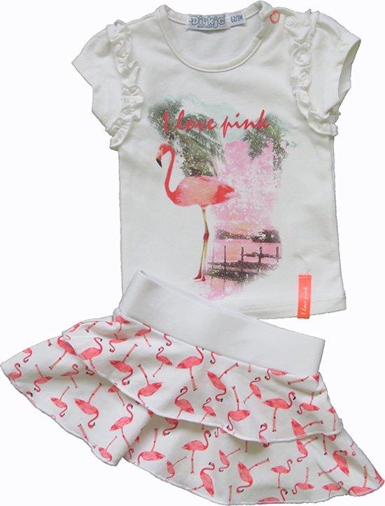 Babykleding Maat 86.Bol Com Dirkje Babykleding 2 Delig Setje I Love Pink Wit Maat 86