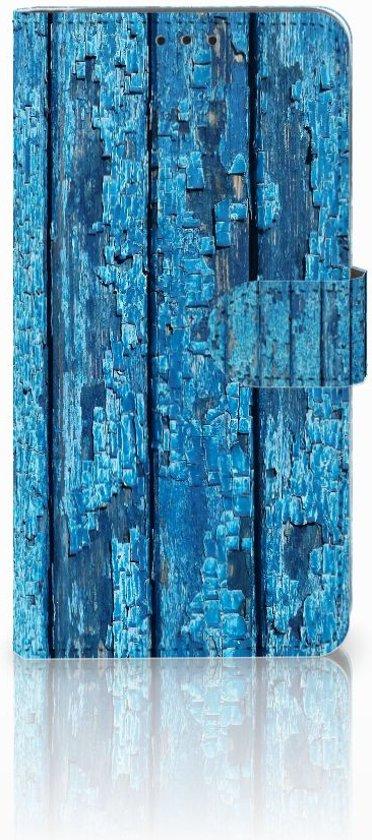 Samsung Galaxy A9 2018 Uniek Boekhoesje Wood Blue