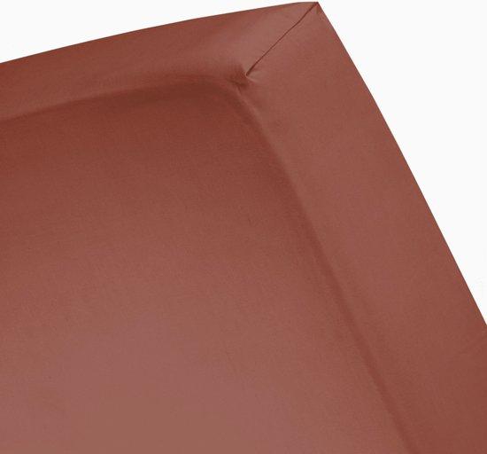 Damai - Hoeslaken (tot 25 cm) - Satijn - 180 x 220 cm - Clay
