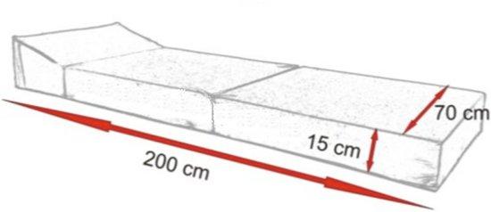 Luxe logeermatras - groen - camping matras - reismatras - opvouwbaar matras - 200 x 70 x 15 - met kussens