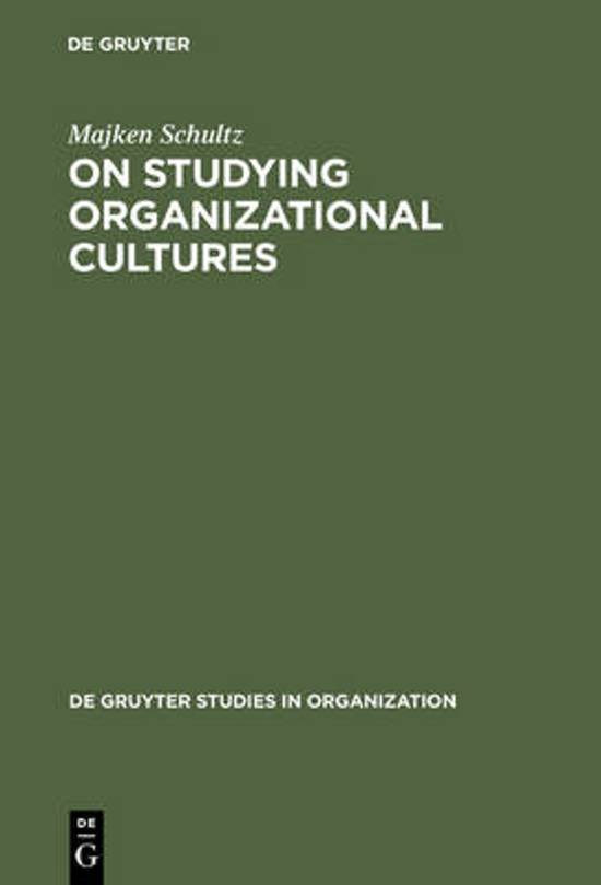 On Studying Organizational Cultures