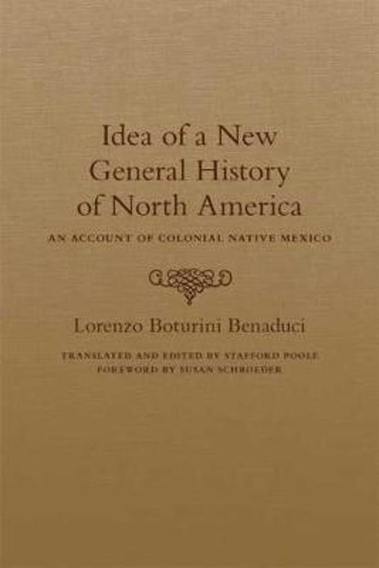 Idea of a New General History of North America
