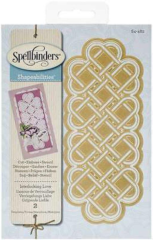 Spellbinders Shapeabilities Dies-Interlocking Love. S4-482