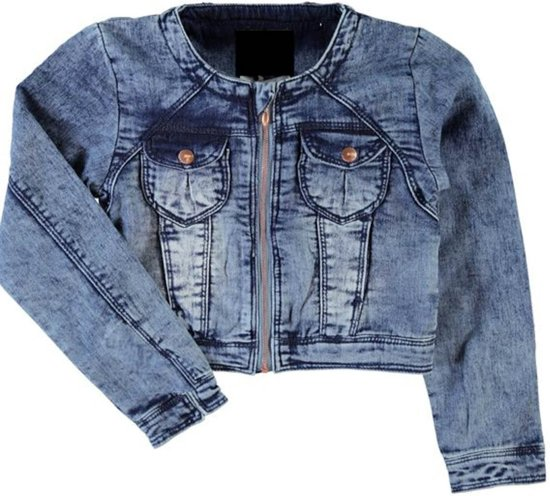 Name it Meisjes Jas Medium Blue Denim Maat 110
