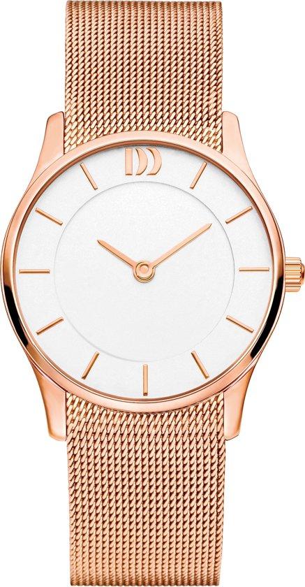 Danish Design IV67Q1063 horloge dames - ros� - edelstaal PVD ros�
