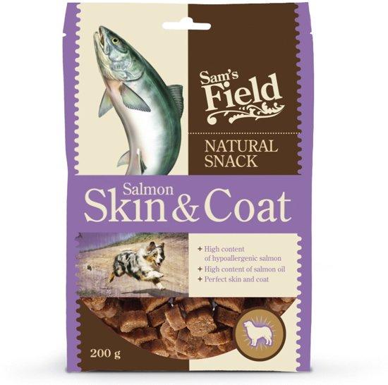 Sam's Field Natural Snack Skin & Coat - Zalm -  200 g