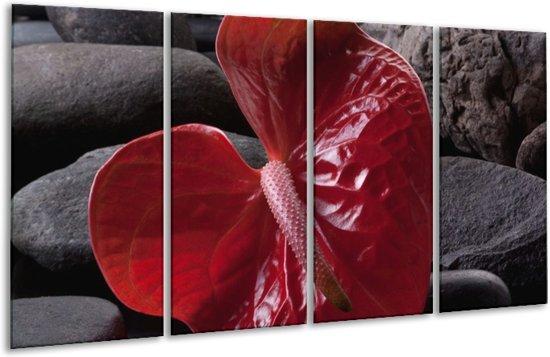 Glasschilderij Spa | Rood, Grijs, Zwart | 160x80cm 4Luik | Foto print op Glas |  F006145