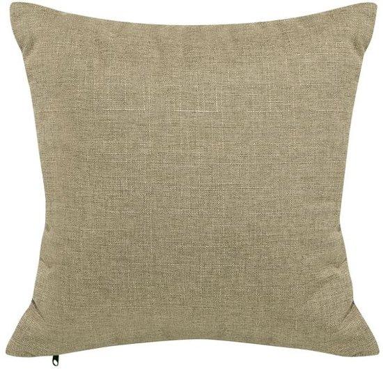 Beliani Otra 3-Zits bank Bruin polyester