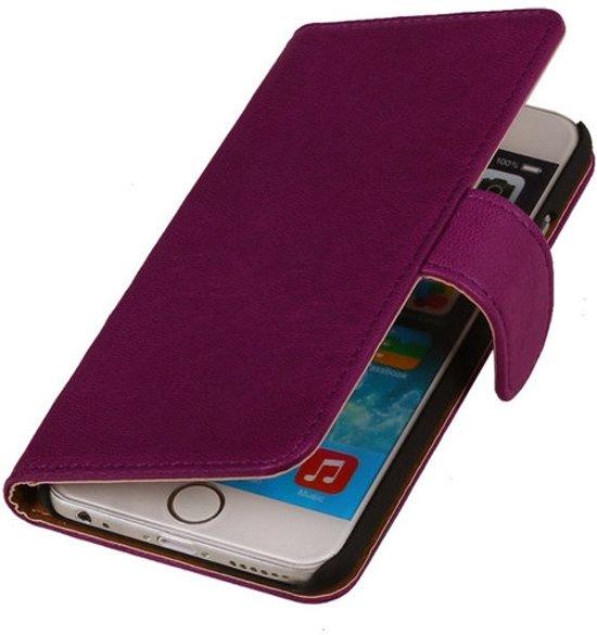MP Case Paars iPhone 6 Plus Echt Lederen Booktype in Hoogmeien