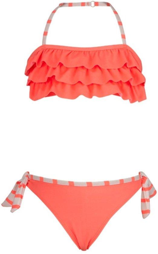 Snapper Rock UV werende Bikini Kinderen - Neon/Koraal - Maat 116-122