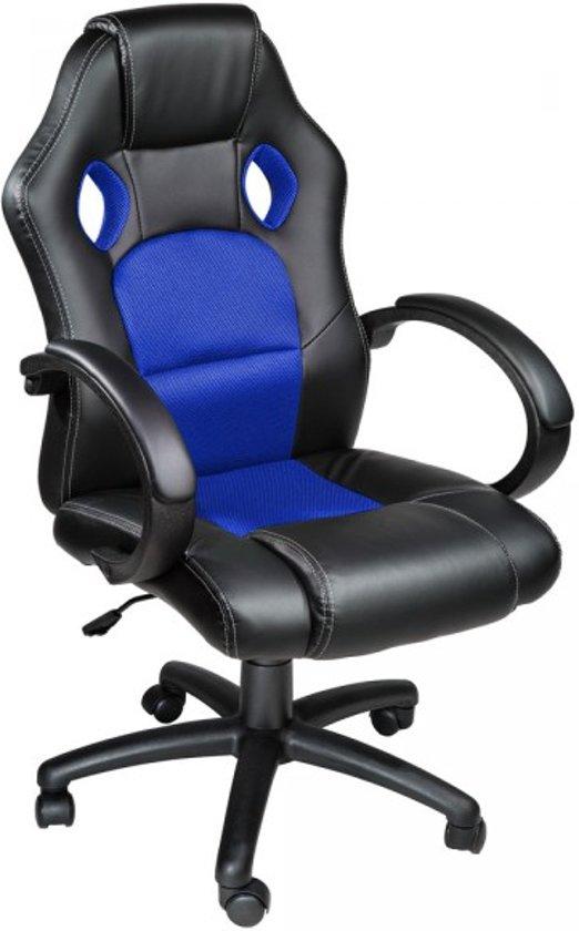 Bureaustoel Blauw Zwart.Tectake Luxe Design Racing Bureaustoel Blauw Zwart