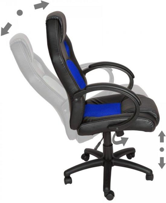 Bureaustoel Blauw Zwart.Luxe Design Racing Bureaustoel Blauw Zwart