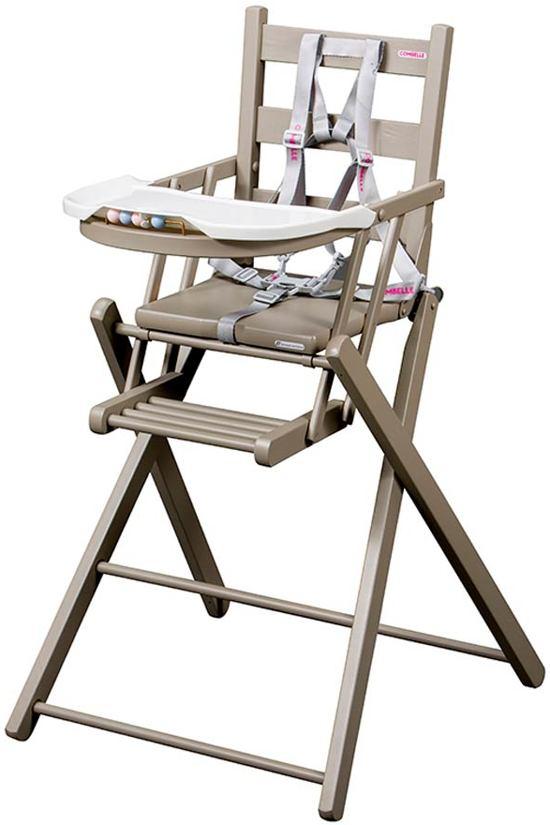 Combelle - Inklapbare houten kinderstoel - grijs