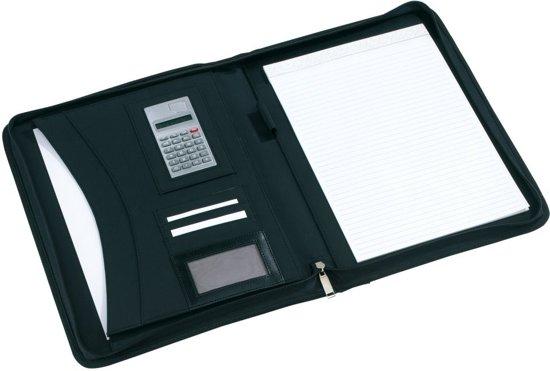 Schrijfmap Cm Kunstleer Met 35x28x4 Conferentiemap RitssluitingCalculator Ultimate Zwart TravelstyleA4 w0nOkP