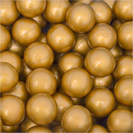 50 Babybalballen 5,5 cm Kinderbalbadje Kunststofballen Babyballen Goud