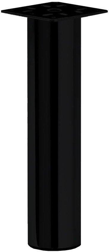 Zwarte ronde meubelpoot 17 cm