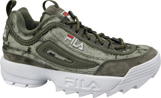 Fila Disruptor S Wmn Low 1010555 50I, Vrouwen, Groen, Sneakers maat: 39 EU
