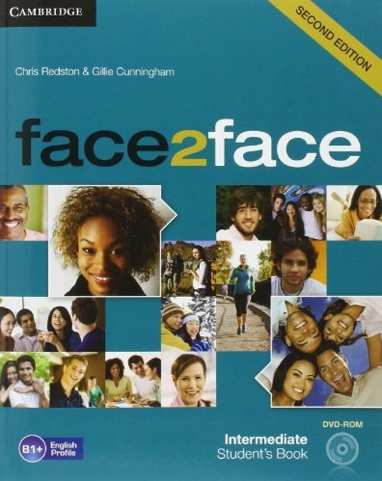 Boek cover face2face Intermediate Students Book with DVD-ROM van Chris Redston (Hardcover)