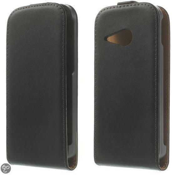 HTC one mini 2 zwart flip tasje hoesje