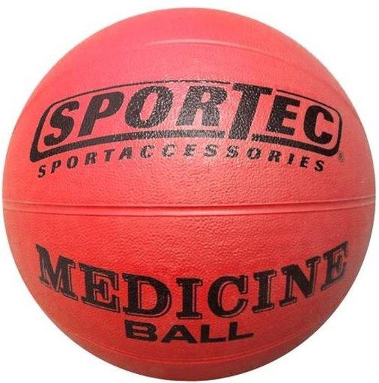 Sportec Medicine Bal Rubber 4 Kg Rood