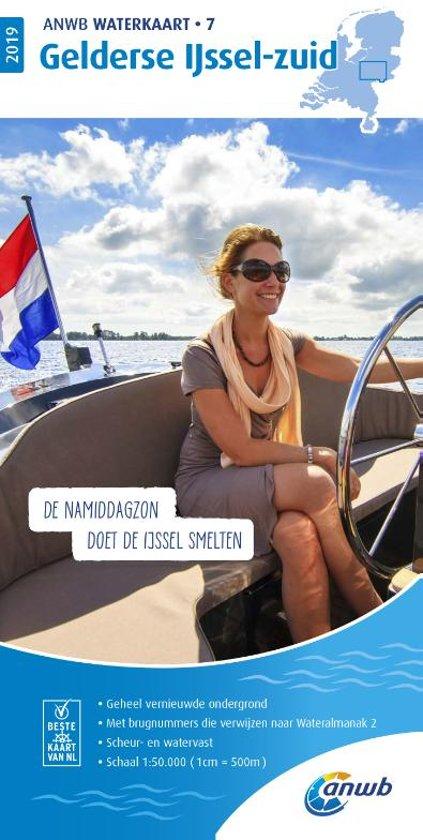 ANWB waterkaart 7 - Gelderse IJssel-zuid 2019